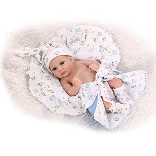 NPK 10 Inch / 26cm Preemie Full Body Silicone Soft Vinyl Real Looking Reborn Baby Dolls Lifelike Newborn Boy Doll by NPK Dolls