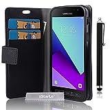 zStarLn nior Luxe Portefeuille Etui Housse pour Samsung Galaxy Xcover 4 Coque en cuir...