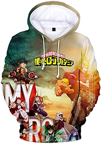 Boys' Novelty Hoodie My Hero Academia 3D Printed Sweatshirt Inspired by Boku No Hero Academia,Z Battlefield-3,XL(Height 69
