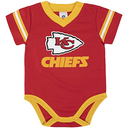 NFL Kansas City Chiefs Team Jersey Bodysuit, red/Gold Kansas City Chiefs, 18 Months