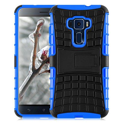JAMMYLIZARD Funda Zenfone 3, Carcasa Militar Alta Resistencia [ Alligator ] Heavy Duty Case Back Cover para ASUS Zenfone 3, Azul