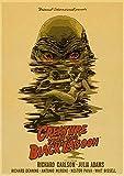 Kemeinuo Cuadros Modernos Criatura de la película de Terror Estadounidense de la Laguna Negra, Carteles Retro, Carteles de Pared, Pintura, decoración artística 60x90cm