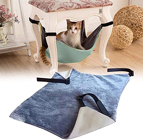 TTCPUYSA Cat Hammock Under Chair,Comfortable Hanging Pet Hammock Bed, for Cats Small Dogs Rabbits or Other Small Animals (Gray)