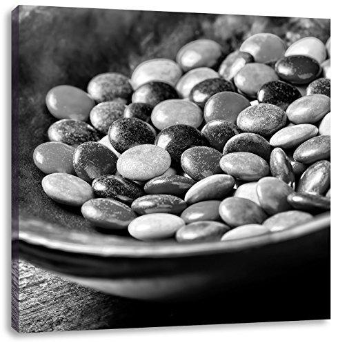 chocolade snoepjesCanvas Foto Plein | Maat: 70x70 cm | Wanddecoraties | Kunstdruk | Volledig gemonteerd