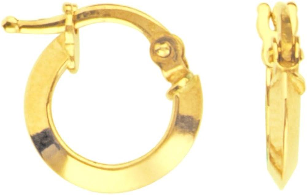 Hoop Earrings, 14Kt Gold Hoop Earring