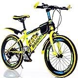 Fahrräder 20 Zoll Kinder Mountainbike Erwachsene Fahrrad Männliche Und Weibliche Geländerennen Junge Wandern Fahrrad (Color : Yellow, Size : 20inch)