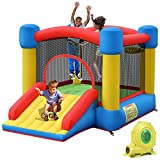 TotGuard Bounce House, Inflatable Bouncy House for Kids Inflatable Bouncer with 450W Blower, 9.5ft 6.9ft 5.97ft Jump House with Long Slid for Indoor Outdoor Backyard, mall, Great Gifts for Kids