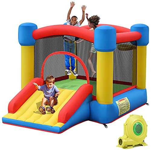 TotGuard Bounce House, Inflatable Bouncy House for Kids Inflatable Bouncer with 450W Blower, 9.5ft...