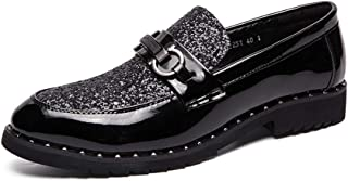 [HYF] シューズ メンズ 革 高級 紳士靴 ストレート 男性 金属装飾 ビジネス 靴