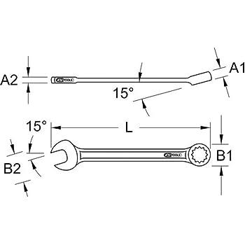 abgewinkelt KS Tools 9640110 EDELSTAHL Ringmaulschl/üssel 10 mm