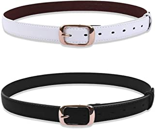 uxcell Womens Fashion Belt with Alloy Sliding Buckle 28mm Width 1 1/8 Inches