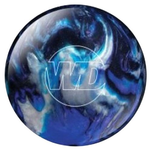 Bowlerstore Products White Dot Bowling Ball- Blue/Black/Silver (8lbs)