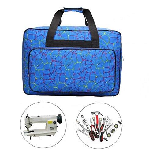 Iaywayii Unisex große Kapazitäts-Nähmaschine-Beutel-Spielraum Portable Storage Tasche Nähmaschine Taschen Multifunktionale Sewing Tools Handtaschen Blau
