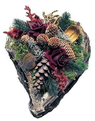 Small-Preis Grabgesteck - Grabschmuck - Grabaufleger Herz Sören mit roter Rose 082