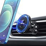 Mpow Soporte Móvil Coche Magnético, Iman Coche Móvil para Rejillas de Ventilación, Soporte Magnético Giratorio de 360° Compatible con iPhone 12/12 Pro/12 Pro MAX/12 Mini/Funda de MagSafe/11/XS Max/X/8