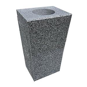 "Silk Flower Arrangements Granite Vase Tapered (5""x4""x9"") Gray"