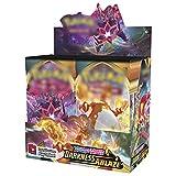 Funmix Tarjetas de Intercambio de 360 Piezas compatibles con Pokémon, Juego de Cartas de Cartas coleccionables GX para niños, Caja de Refuerzo sellada con Tarjeta de relámpago