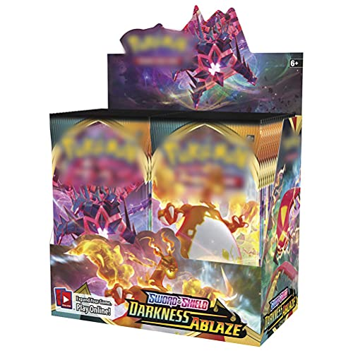 BSTCAR 360 pezzi Darkness Ablaze Booster Box Carte Compatibile con Pokemon, Anime Dedicato Deck Games Set di carte, Cartone animato Booster Box Collection Card Gift for Kids Anime Fan Versione Inglese