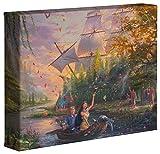 Thomas Kinkade Studios Disney Pocahontas Toile emballée 20,3 x 25,4 cm