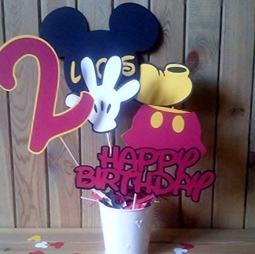 Mickey Mouse Centerpiece | personalized with name and age of your choice | custom orders accepted