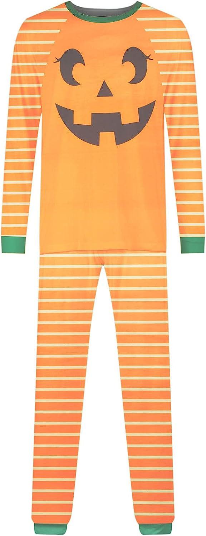 Halloween Matching Family Pajamas Set Pumpkin Print Tops and Plaid Pants Festival Party Family Sleepwear Set