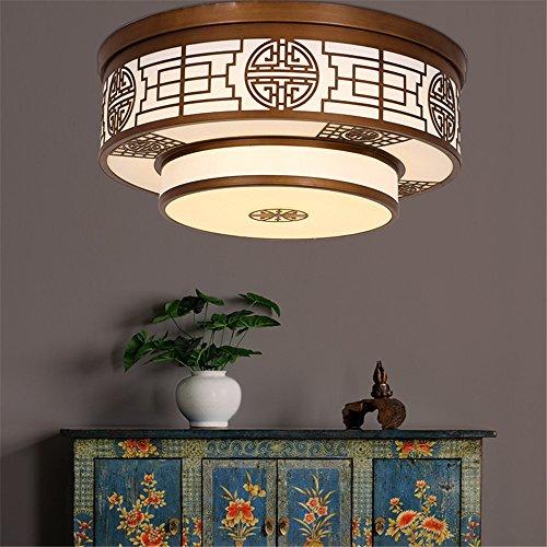 BRIGHTLLT Un nouveau fer à repasser moderne chinois lumière plafond LED ronde et chaleureuse et élégante salle de séjour chambre à coucher,étude créative 500 * 230mm compactes