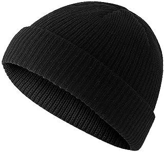 (浅い)ニット帽 ニットキャップ 帽子 イスラム帽子 54CM-58CM (ブラック)