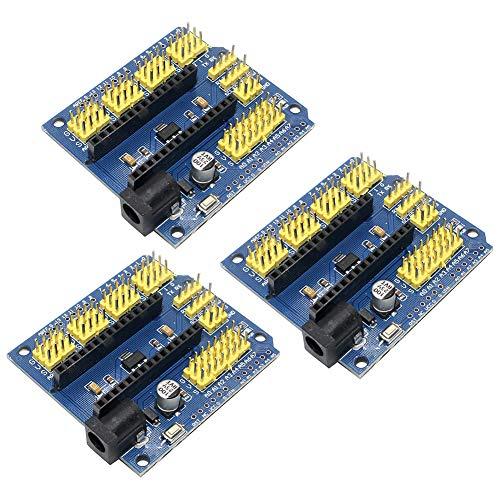 WYPH Nano Terminal Adapter Shield Expansion Board für Arduino Nano V3.0 AVR ATMEGA328P-AU Modul Expansion Board 3pcs