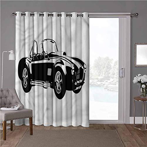 YUAZHOQI - Cortinas opacas aisladas térmicas para patio, coches, coches deportivos, motor Roadster de coche, divisor de habitación decorativo de 52 x 84 pulgadas (1 panel)