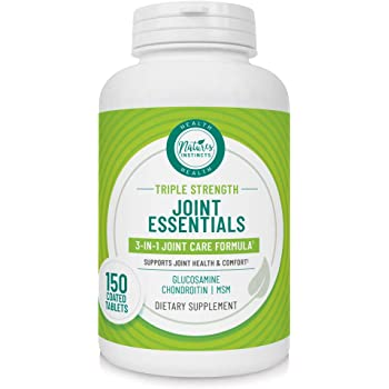 Nature's Instincts Joint Essentials 3-in-1 Triple Strength Joint Care | Glucosamine, Chondroitin & MSM | Potent Joint Health Supplement for Joint Mobility & Comfort, 150Count