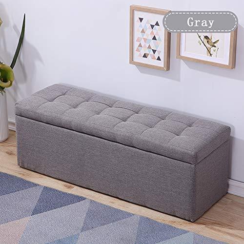 Love-Cushion kruk met opbergruimte, kleur massief, voetenbank, opbergruimte, zitkist, voor slaapkamer, hal, ruimtebesparend, antislip zool