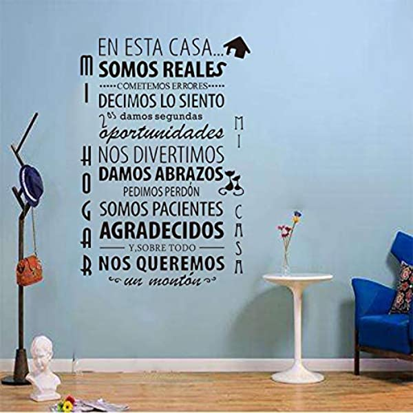 LKI77X En The Use Of This House System Of The Spanish House Rules Wall Stickers Vinyl Mural Artist Home Decoration Stickers SP 018red 40x60cm