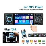 YYKJ 1Din Autoradio Touchscreen BT Autoradio, Universal-Autoradio MP5-Player, Bluetooth FM SD USB-Aux-Empfänger mit Rückfahrkamera