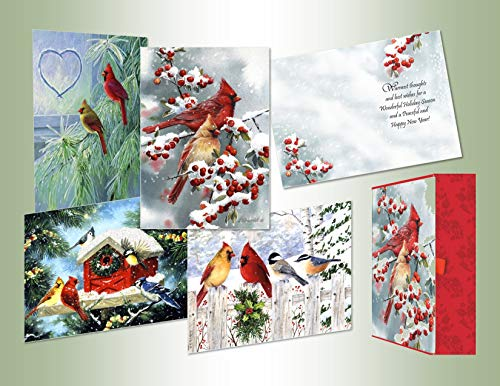 Performing Arts Boxed Christmas Card Assortment, Set of 20 cards/20 envelopes, 5 each of 4 designs in a reusable decorated keepsake box (87103-20)