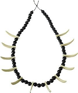 Forum Novelties Stone Age Teeth Necklace Costume Accessory
