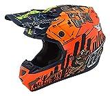 Troy Lee Designs - Casco de moto SE4 compuesto bajo de fibras compuestas altamente ventiladas XS naranja