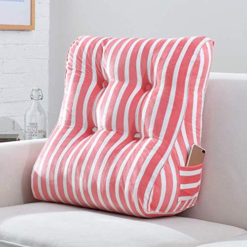 Rugkussen, driehoekig rugkussen, wigvormig kussen met zijzakken, wasbare deksel, leesmatten voor matrasboeken, bed, bank, auto 45x55cm(18x22