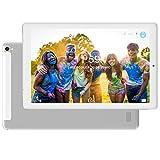 Tablet 10.1 Pulgadas 4G Dual SIM /WiFi Tableta 3GB de RAM 32GB de ROM Android 8.0 Quad-Core Batería 8000mAh Bluetooth/GPS/OTG Tablets(Soporte Netflix,Desbloqueo Facial)-Plata