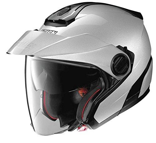 Nolan N40-5 Motorcycle Helmet Silver Large