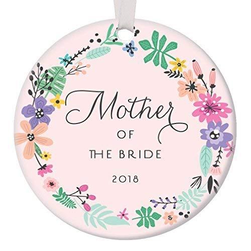 Fr75en Adorno Rosa de la Madre de la Novia 2019, Regalo para Novia, mamá, Navidad, Boda, Fiesta, Agradecimiento, Hija, Padres