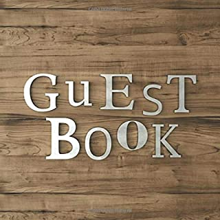 Guest Book: Guest Book for Vacation Home - 150 Pages - Vintage Wood Edition