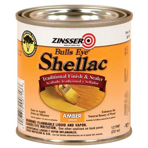 Rust-Oleum 716 Bulls Eye Amber Shellac, 1/2-Pint