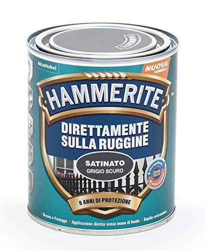 Hammerite Direttamente Sulla Ruggine Satinato Grigio Scuro 0.75 L