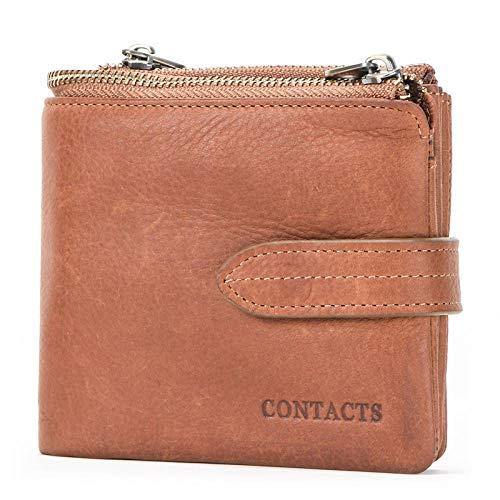 Herren Geldbörse Leder Material, khaki (Grün) - sp40984258