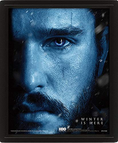 Game Of Thrones (Jon Snow Vs Knight King) 10 x 8 pouces Posters Lenticulaires 3D
