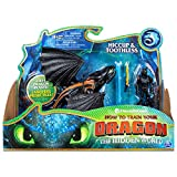 Dreamworks Dragons, Toothless and Hiccup, Dragon with Armored Viking Figure, for Kids Aged 4 and Up