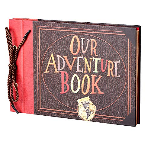 LINKEDWIN Up Scrapbook Photo Album, 3D Our Adventure Book, Wedding Guestbook, Bridal Shower, 11.6 x 7.5 inches, 80 Pages