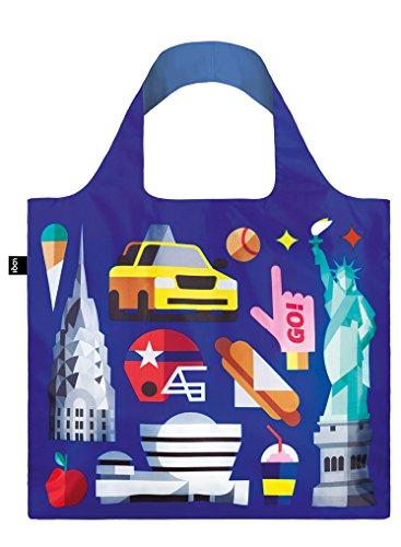 LOQI Hey Studio Einkaufstasche / Reisetasche Reise-Henkeltasche, 50 cm, New York