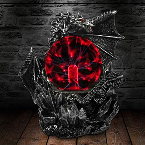 YAOJIA Plasmakugel Plasma-Kugel Mittelalter Dark Dragon Guard Neuheit Tischlampe Berührungssensor Glaslampe Magische Dekoration Geschenk