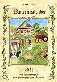 Bauernkalender 2021 - Bild-Kalender 24x34 cm - inkl. Bauernregeln - mit 100-jährigem Kalender - mit liebevollen Illustrationen - Wandkalender - Alpha Edition